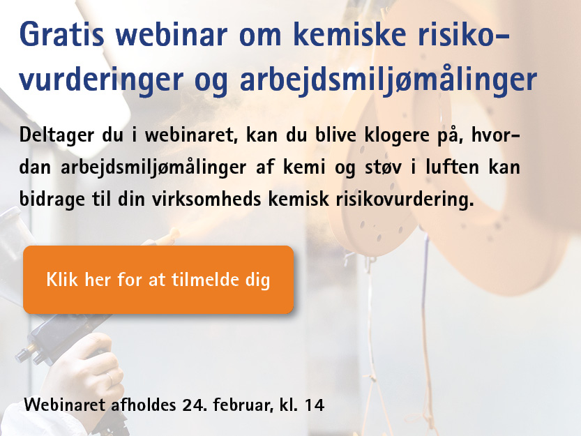 Webinar om kemiske risikovurdering